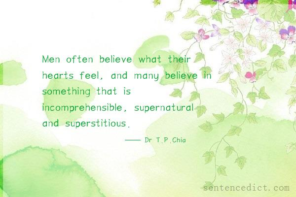 superstitious in a sentence